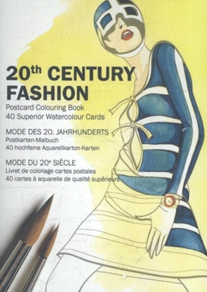 Afbeeldingen van 20th Century Fashion - Postcard Colouring Book