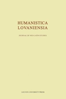 Afbeeldingen van Humanistica Lovaniensia Journal of Neo-Latin studies