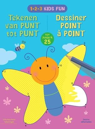 Afbeeldingen van 1-2-3 Kids Fun - Tekenen van punt tot punt tot 25 / 1-2-3 Kids Fun - Dessiner de point à point jusqu'a 25