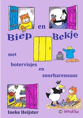 Afbeeldingen van Biep en Bekje met botervisjes en snorharensaus